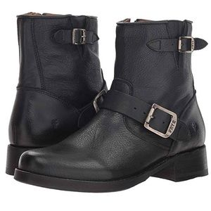 FRYE Vicky Engineer Leather Buckle Boot Size 6.5